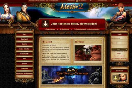 Metin 2 Homepage