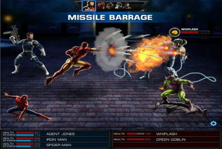 Marvel Avengers Alliance Kampfszene
