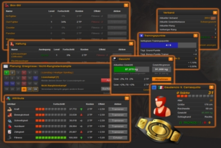 Online Boxing Manager Spiel Training