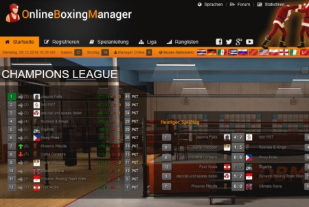 Online Boxing Manager Championsleague