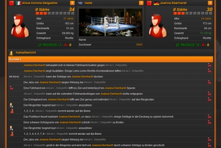 Online Boxing Manager Boxkampf