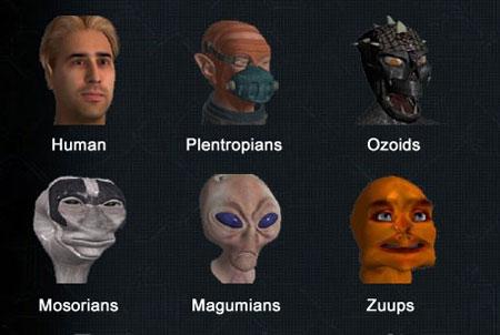 Empire Universe 2 Rassen