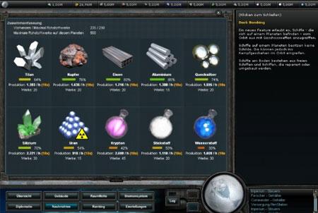 Empire Universe 2 Ressourcen