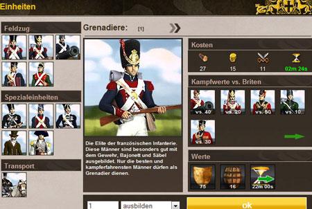 Empires in Flames Einheiten