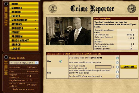 Gangs of Crime Zeitung